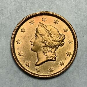 1853 $1 GOLD COIN LOOKS UNC TO ME BUT JUDGE FOR YOURSELF
