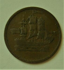 PEI SHIPS COLONIES AND COMMERCE HALFPENNY TOKEN