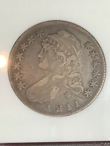 NGC XF40 1811 LARGE 8 CAPPED BUST HALF DOLLAR BEAUTIFUL