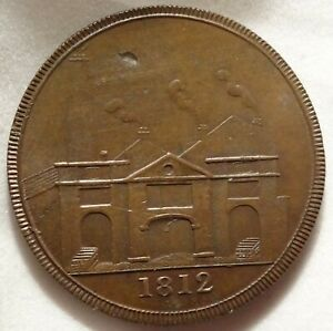 1812 GB HULL LEAD WORKS PICARD PENNY 1P TOKEN DH 84 W 750 HIGH GRADE PROVENANCE