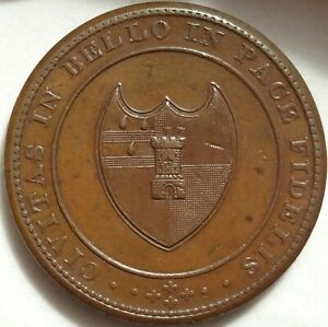 1811 WORCESTER GB HOUSE OF INDUSTRY PENNY 1P TOKEN W 1249 DH 19 OLD PROVENANCE