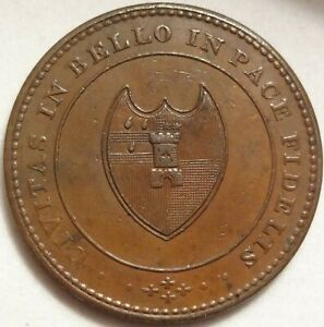 1811 WORCESTER GB HOUSE INDUSTRY HALF PENNY 1/2P TOKEN W 1270 DH 28 PROVENANCE