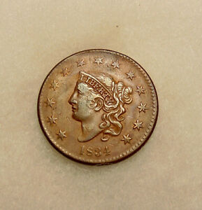 1834 LARGE CENT   NICE LOOKING COIN