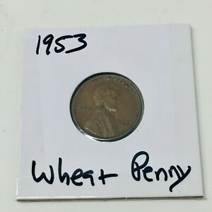 1953 P CIRCULATED LINCOLN WHEAT PENNY CENT  2019157040