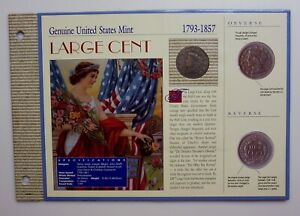 CARDED 1820 US LARGE CENT LARGE DATE