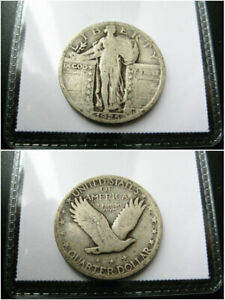 1925 US. SILVER STANDING LIBERTY QUARTER CHOICE VF COIN