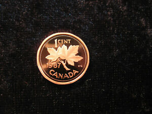 OLD WORLD PROOF COIN CANADA 1 CENT 1987 KM132
