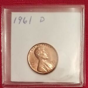 1961 D LINCOLN MEMORIAL CENT / PENNY.  AU.  SEE PICTURES.  P213