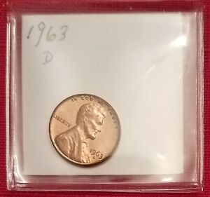 1963 D LINCOLN MEMORIAL CENT / PENNY.  AU.  SEE PICTURES.  P214