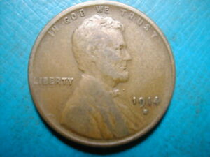 1914 S LINCOLN WHEAT CENT  DATE 50