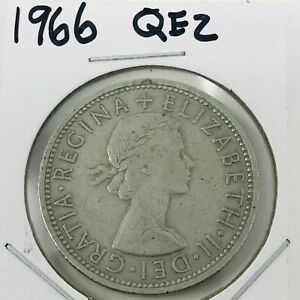 1966 GREAT BRITAIN 2 SHILLING COIN CIRCULATED QEII  2019157041