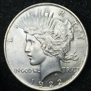 1922 PEACE SILVER DOLLAR IN MS CONDITION NICE CARTWHEEL LUSTER