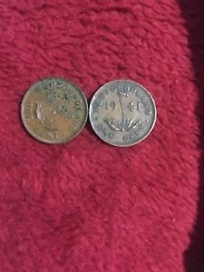 NEWFOUNDLAND ONE CENT 1941 AND 1942