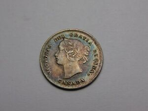1897 CANADA VICTORIA SILVER 5 CENTS VF/XF SUPER NICE  MUST SEE