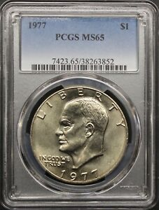 1977 EISENHOWER DOLLAR PCGS MS65 CLAD REGISTRY COIN