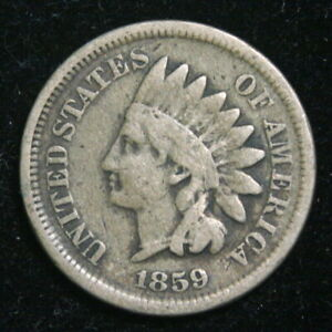 1859 INDIAN HEAD CENT PENNY VG GOOD US COIN