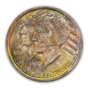 Click now to see the BUY IT NOW Price! ARKANSAS 1935 50C SILVER COMMEMORATIVE PCGS MS67  CAC