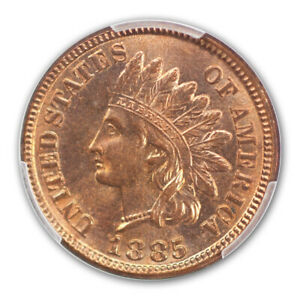 Click now to see the BUY IT NOW Price! 1885 1C INDIAN CENT   TYPE 3 BRONZE PCGS MS66RD