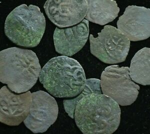 1000 YEARS OLD ISLAMIC COINS   MEDIEVAL   COPPER   VG CONDITION