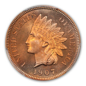 Click now to see the BUY IT NOW Price! 1907 1C INDIAN CENT   TYPE 3 BRONZE PCGS PR66RD  CAC