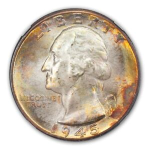 Click now to see the BUY IT NOW Price! 1945 D WASHINGTON QUARTER 25C NGC MS68