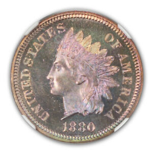 Click now to see the BUY IT NOW Price! 1880 BRONZE INDIAN CENT 1C NGC PR67RBC