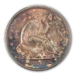 Click now to see the BUY IT NOW Price! 1873 S 50C ARROWS LIBERTY SEATED HALF DOLLAR PCGS MS64