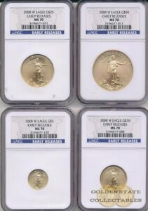 Click now to see the BUY IT NOW Price! 2008 W BURNISHED GOLD EAGLE NGC MS70 EARLY RELEASES 4 COIN SET