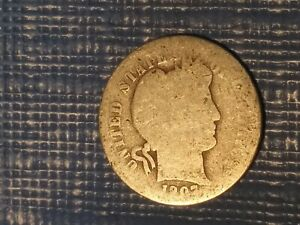 1907  BARBER OR LIBERTY HEAD DIME IN GOOD CONDITION.