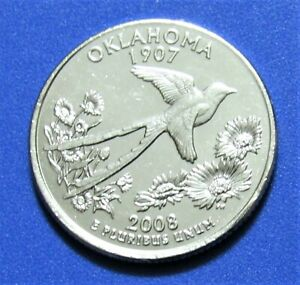 2008 P 25C OKLAHOMA STATE QUARTER   UNCIRCULATED