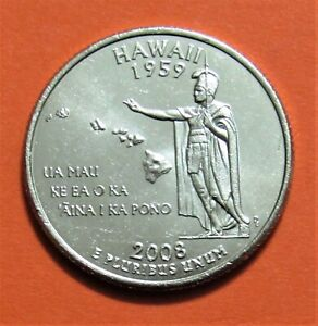 2008 P 25C HAWAII STATE QUARTER   UNCIRCULATED