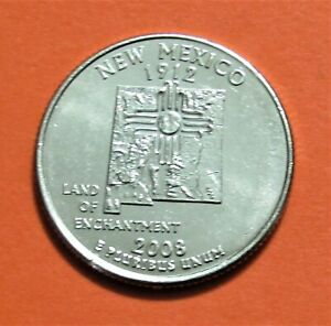 2008 P 25C NEW MEXICO STATE QUARTER   UNCIRCULATED