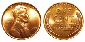 1955 BU UNCIRCULATED LINCOLN CENT   $2.75 MAXIMUM SHIPPING FOR ENTIRE ORDER