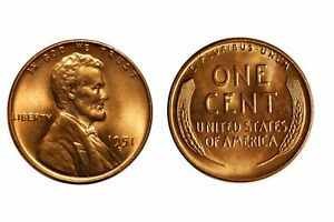 1951 D BU UNCIRCULATED LINCOLN CENT   $2.75 MAXIMUM SHIPPING FOR ENTIRE ORDER