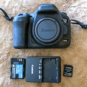 CANON EOS 7D MARK II 20.2MP DIGITAL SLR CAMERA BODY SHUTTER 21372 USED EXCELLENT