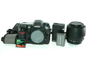 NIKON D200 10.2MP DIGITAL SLR CAMERA WITH 55 200MM ZOOM LENS  SHUTTER 12K