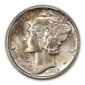 Click now to see the BUY IT NOW Price! 1939 10C MERCURY DIME PCGS MS67 FB  CAC