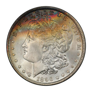 Click now to see the BUY IT NOW Price! 1896 $1 MORGAN DOLLAR PCGS MS67   CAC  3101 1
