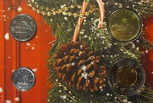 CANADA   SET OF 4 COINS  2013  BU  FROM OFFICIAL MINT SET