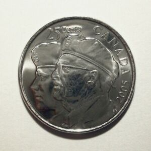 CANADA   25 CENTS  2005  UNC   YEAR OF THE VETERAN   COMMEMORATIVE   COIN