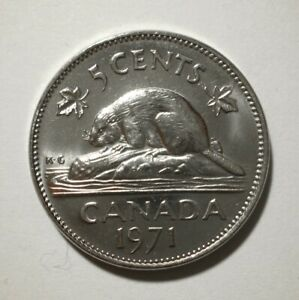 CANADA   5 CENTS  1971    COIN