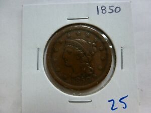 1850 DRAPED BUST LARGE CENT