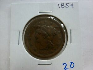 1854 DRAPED BUST LARGE CENT