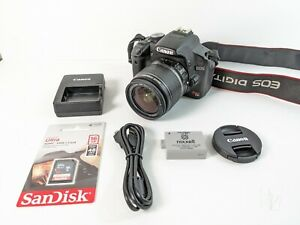 CANON EOS REBEL T1I 500D 15.1MP DSLR CAMERA W/ 18 55MM LENS BATTERY SD CARD