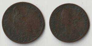 1874 H GREAT BRITAIN HALF PENNY COIN