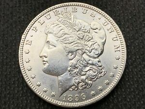 1896 P  MORGAN DOLLAR   UNC      3 OR MORE   FREE S/H      90  SILVER   A855
