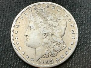 1898 S  MORGAN DOLLAR   F VF       3 OR MORE   FREE S/H      90  SILVER   A920