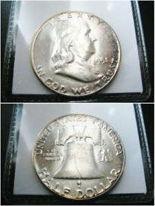 1951   BETTER DATE   SIILVER BEN FRANLIN HALF DOLLAR CHOICE UNC COIN  TONED