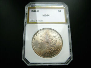 1884 O MORGAN SILVER DOLLAR CHOICE UNC BU COIN TONED