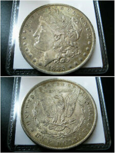 1885 O MORGAN SILVER DOLLAR CHOICE AU COIN   NICE ORIGINAL TONED